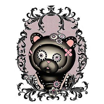 Ornate steampunk teddy by paviash