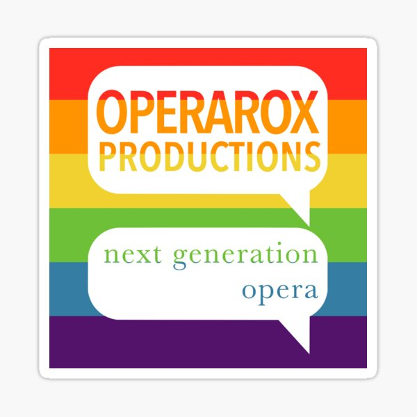 OperaRox Productions Rainbow Logo Sticker