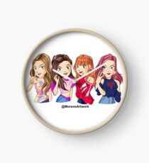 Anime Black Pink K-pop Clock