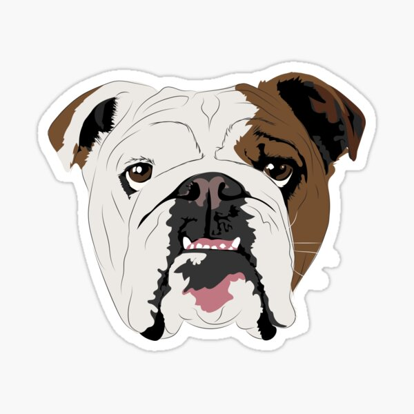 Squishy Dogs - English Bulldog Sticker