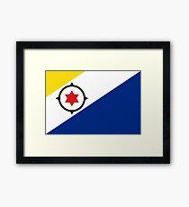 Flag of Bonaire Framed Print
