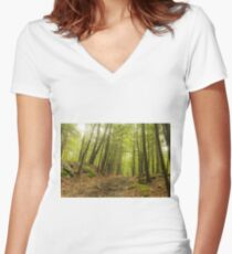 Trail Woods Summer Women's Fitted V-Neck T-Shirt