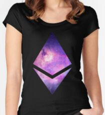 Ethereum Galaxy Logo Women's Fitted Scoop T-Shirt