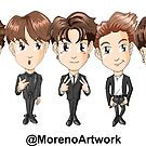 Anime BTS K-Pop by Moreno Artwork