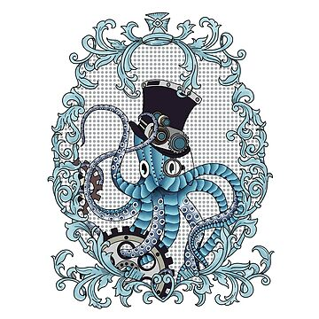 ornate steampunk octopus by paviash