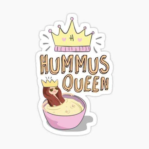 Hummus Queen Sticker
