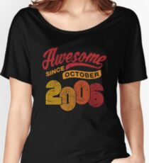 Awesome Since October 2006 Shirt Vintage 12th Birthday Women's Relaxed Fit T-Shirt