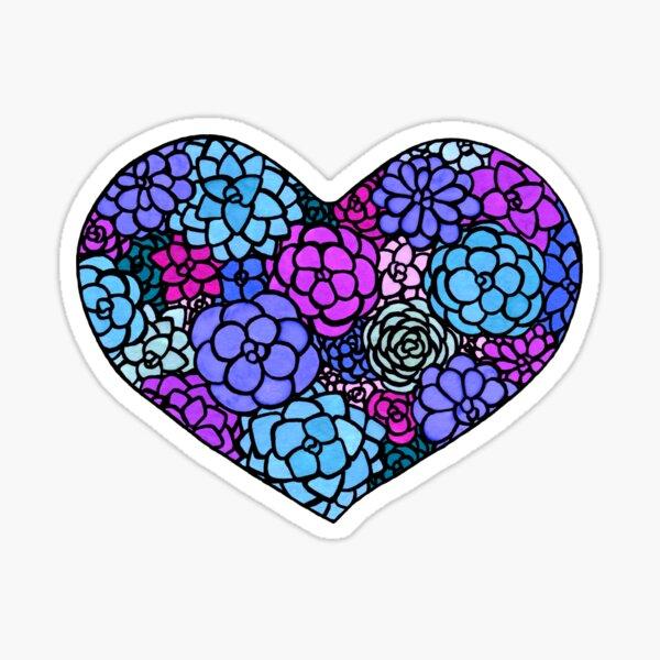 Heart Blooms Sticker