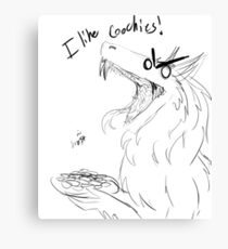 I LIKE COOKIES Canvas Print
