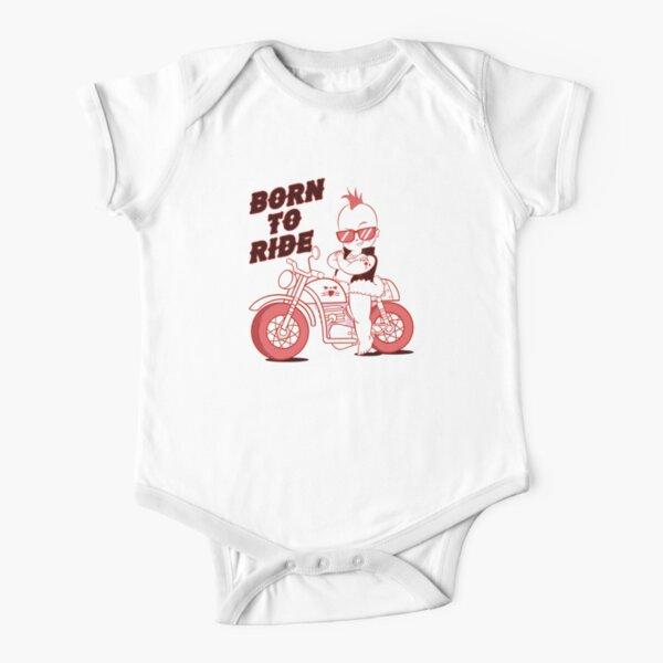 Born To Ride - Biker Baby Short Sleeve Baby One-Piece