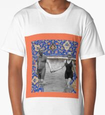 vintage collage Long T-Shirt