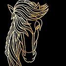 Golden horse by paviash