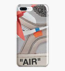 "THE 10: AIR JORDAN 1 ""OFF-WHITE"" - WHITE iPhone Case 2018 iPhone 8 Plus Case"