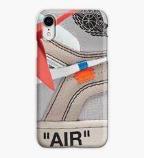 "THE 10: AIR JORDAN 1 ""OFF-WHITE"" - WHITE iPhone Case 2018 iPhone XR Case"