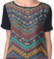 AFRICAN TRIBAL ART Chiffon Top