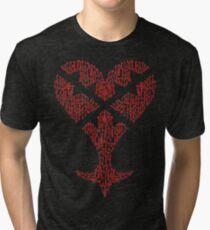 Key blade to my Heartless variant  Tri-blend T-Shirt