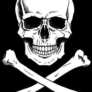 Pirate Jolly Roger with crossbones by Noedelhap