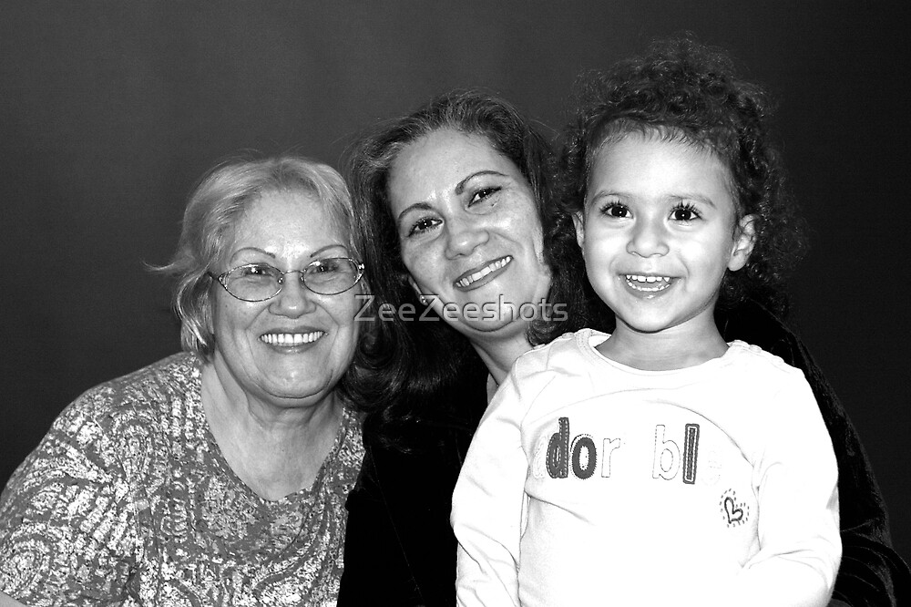Greatgrandmother, grandmother, granddaughter by ZeeZeeshots