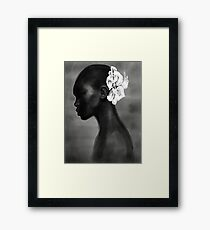 Beautiful pioneer, Fashion Illustration Modern Sumi-e Painting Ink Zen Print Drawing Model Wall Deco Design Brush B&W Vogue Framed Print