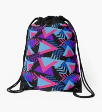 Cool Triangle 90s Print Drawstring Bag