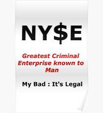NYSE Poking Fun Poster