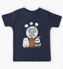 We Bare Bears - Which Bear Are You? II Kids Tee