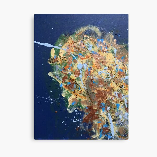 Untitled '17 (in Blue) Canvas Print