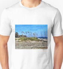 Sea Oats And South Carolina Coastline 1 - Artistic Unisex T-Shirt