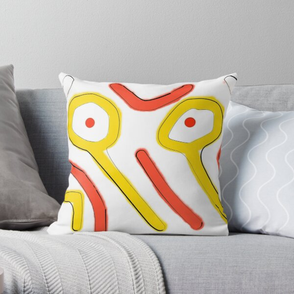 The Eyes In Abstract Throw Pillow