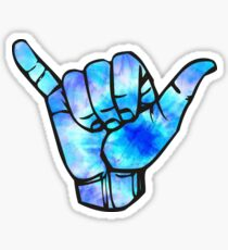 blue shaka Sticker