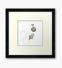 Bitcoin to the Moon or Bust Framed Print