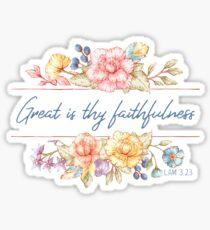 Groß ist deine Treue | Bibelvers Kunst Sticker