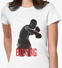 boxing Women's Fitted T-Shirt