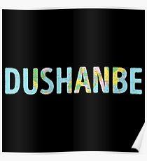 Dushanbe World Map - Cool Tajikistan Traveler Gift Poster