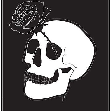 Floral Skull by Briiiiix33