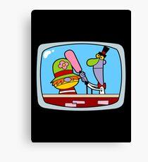 TV Puppet Pals Canvas Print