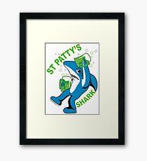 St. Patty's Left Shark  Framed Print