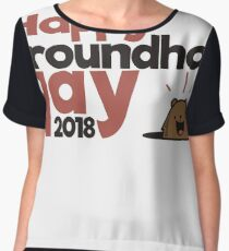 Happy Groundhog day gift Chiffon Top