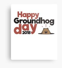Happy Groundhog day gift Metal Print