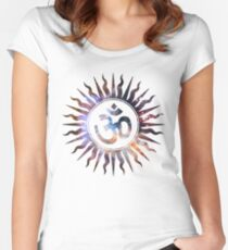 Om Space Om Women's Fitted Scoop T-Shirt