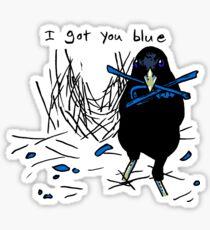 Ich habe dich blau Sticker