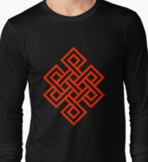 Endless Knot Red Long Sleeve T-Shirt