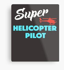 Super Helicopter Pilot Metal Print