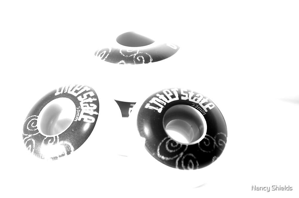 UFO? Skate Wheels by Nancy Shields