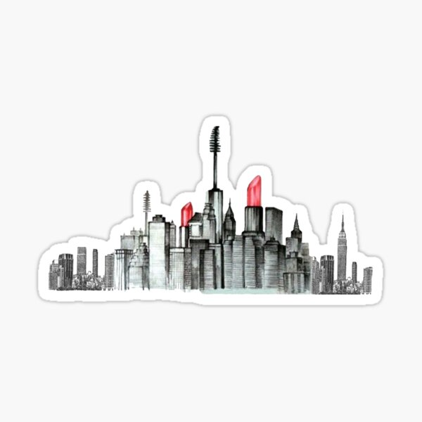 Makeup New York City Sticker