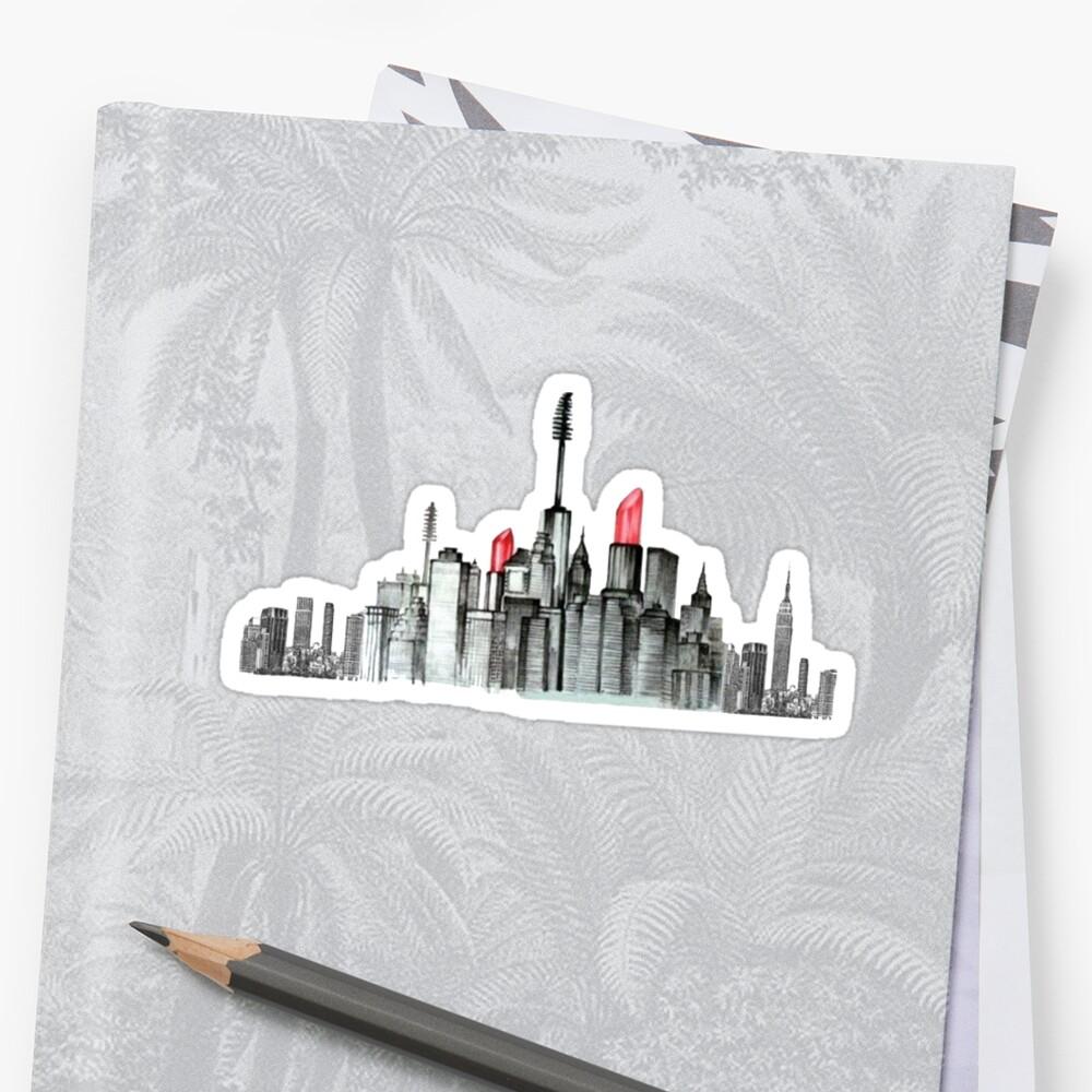 Make-up New York City Sticker