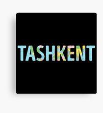 Tashkent World Map - Cool Uzbekistan Traveler Gift Canvas Print
