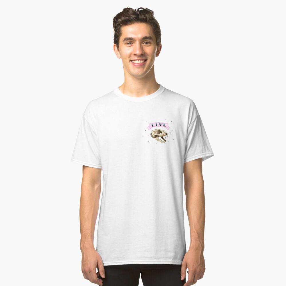 LIVE- Cat Skull Classic T-Shirt Front