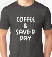 Coffee & Save the day T-Shirt, Ladies Unisex, Men Unisex, Crewneck Shirt, Coffee T-shirt, Gift For Wife, Husband, Short and Long Sleeve T-shirt Unisex T-Shirt