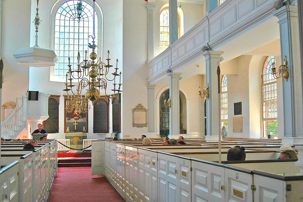 Old North Church - Boston Interior by Joseph Rieg